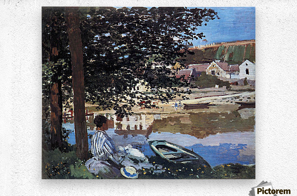 The river has burst its banks by Monet  Metal print