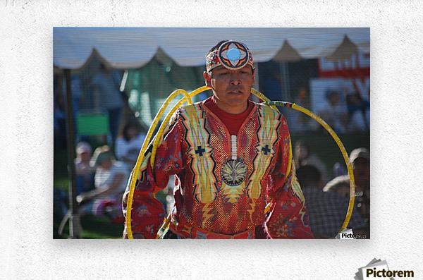 Native American Hoop dance championships 2008  Metal print