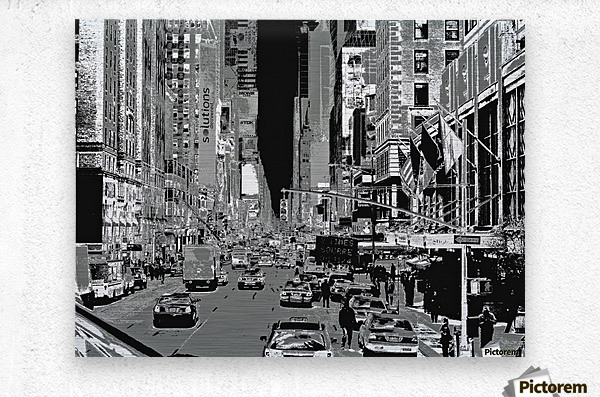 Madison Ave B&W  Metal print