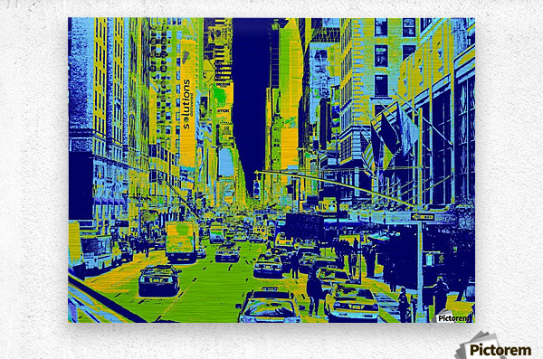Madison Ave  Metal print