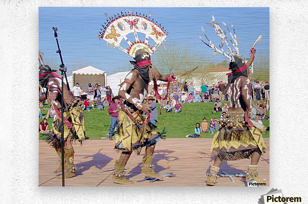 Apache Indian Tribal Ceremony  Metal print