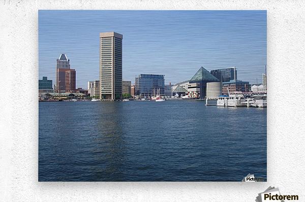 Baltimore Harbour  Metal print