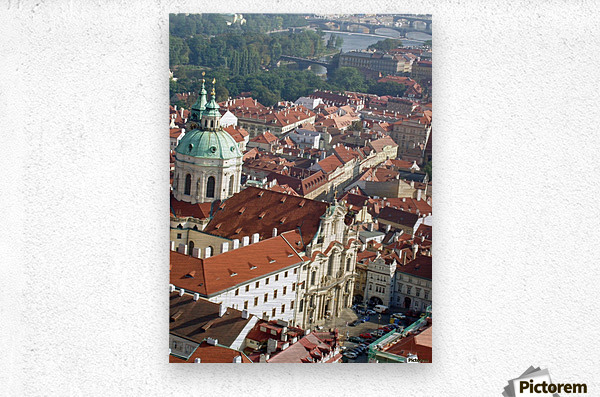 Looking Down on Prague  Metal print