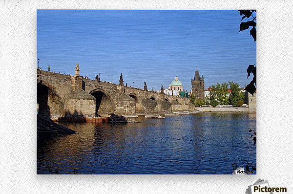 View of The Charles Bridge Prague  Metal print