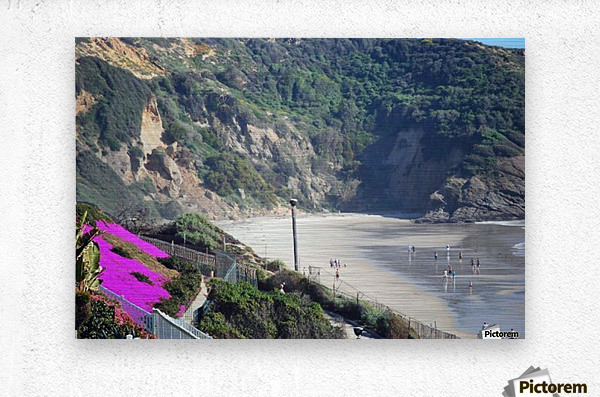 Secluded Cali fornia Beach  Metal print