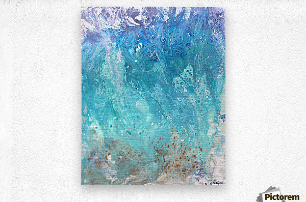 Abstract  Wave Painting  Metal print