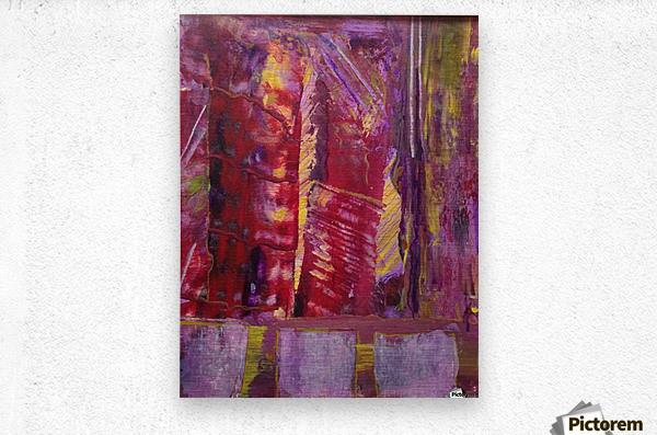 Change is Inevitable Abstract Painting  Metal print