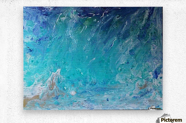Wet an Abstract wave  Metal print
