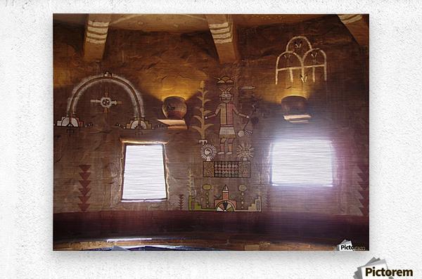 Old Native American Dwelling Grand Canyon AZ  Metal print