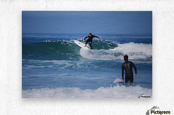Guy Surfing In California  Metal print