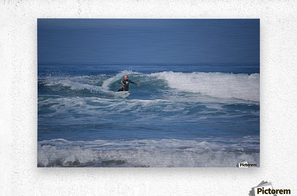 The Lone Surfer  Metal print