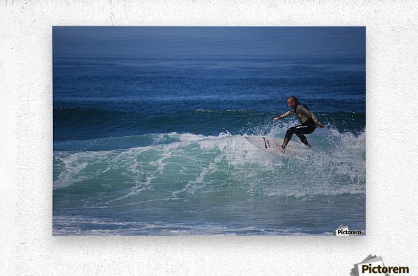 Surfer In California  Metal print