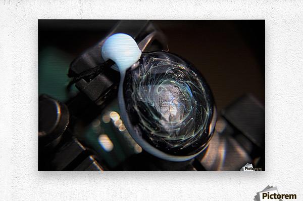 ReflectionInGlassF001  Metal print
