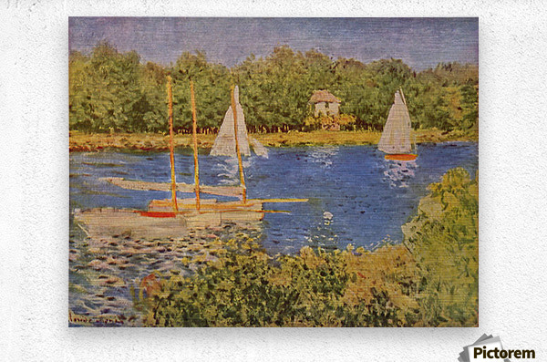 The Seine at Argenteuil Basin by Monet  Metal print