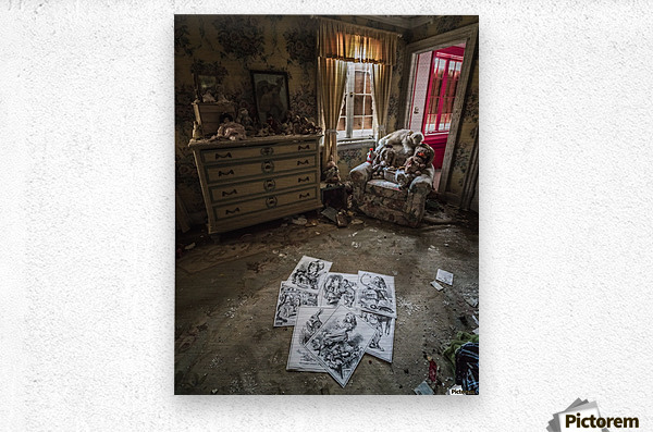 Abandoned Alice In Wonderland Room  Metal print