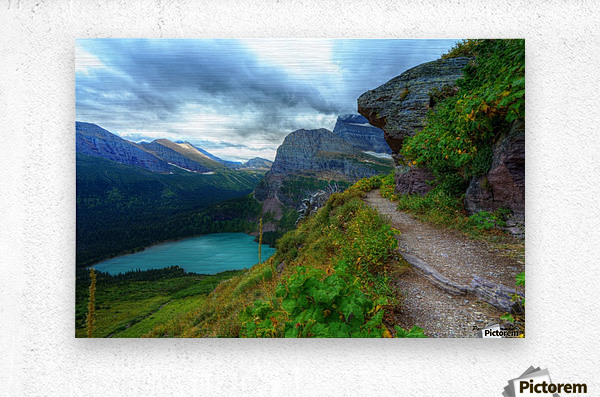 51 -2 Trail to Grinnell Glacier  Metal print