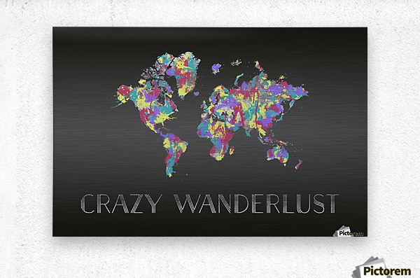 Graphic Art CRAZY WANDERLUST | Splashes  Metal print