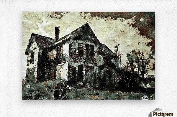 Haunted candy house  Metal print