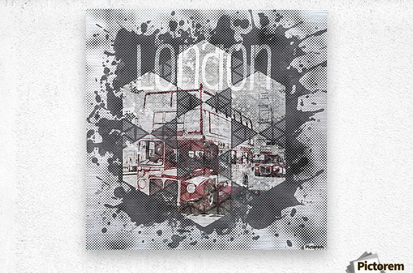 Graphic Art LONDON Streetscene  Metal print