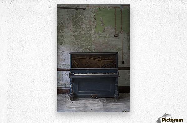 Abandoned Piano  Metal print