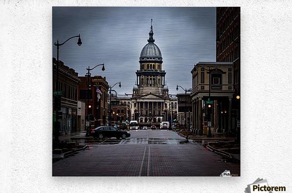 Illinois State Capitol  Metal print