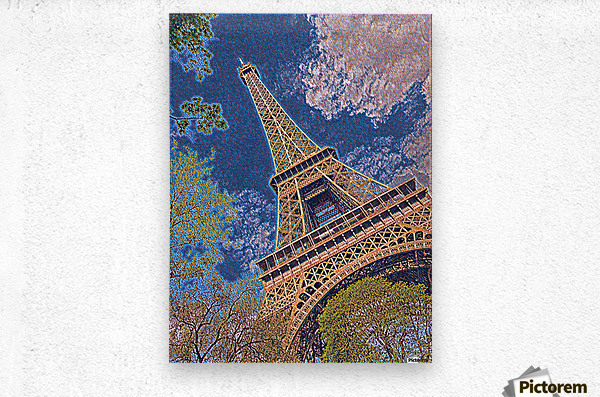 Eiffel Tower- Abstract  Metal print