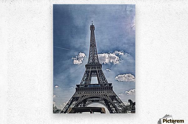 Sky & Eiffel  Metal print