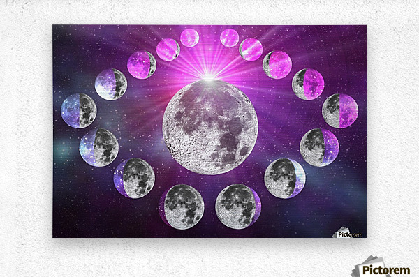 Multi-phase Moonlight  Metal print
