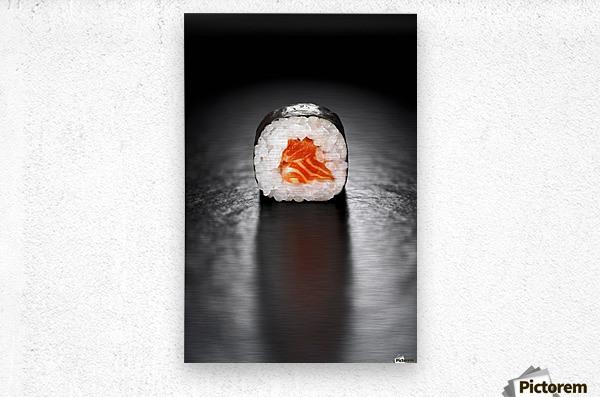 Maki Sushi Roll with Salmon  Metal print