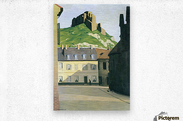 Town square in Andlys by Felix Vallotton  Metal print