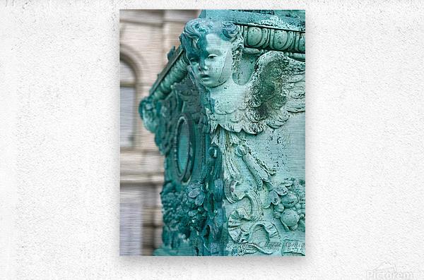 Capital Statues  Metal print