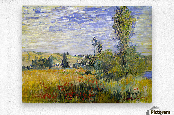 Vetheuil by Monet  Metal print