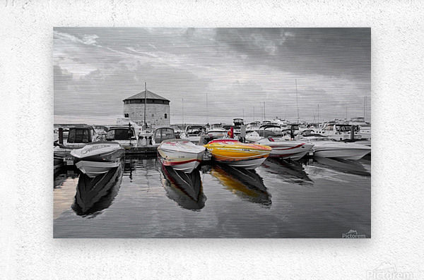 Cigarette Boats  Metal print