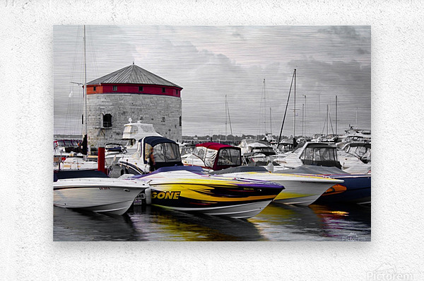 Poker Run At The Shoal Tower  Metal print