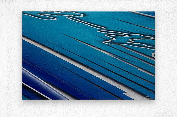 Diagonally Blue  Metal print