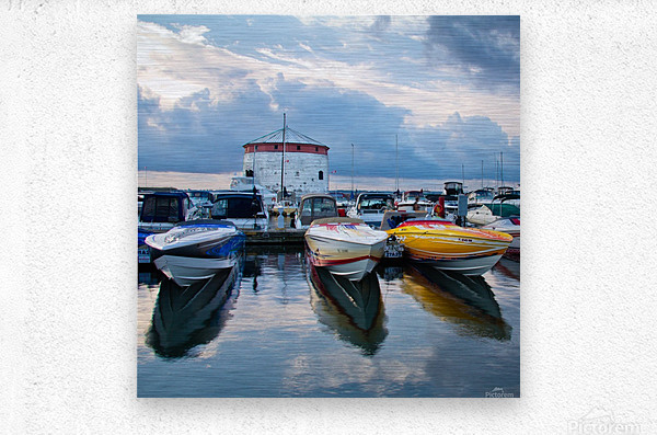 Dawn at the Marina  Metal print