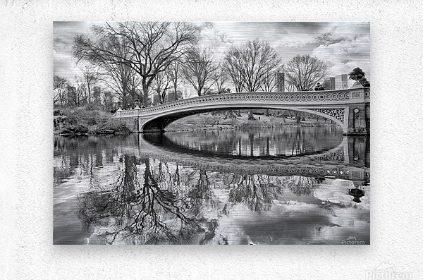 Bow Bridge  Metal print
