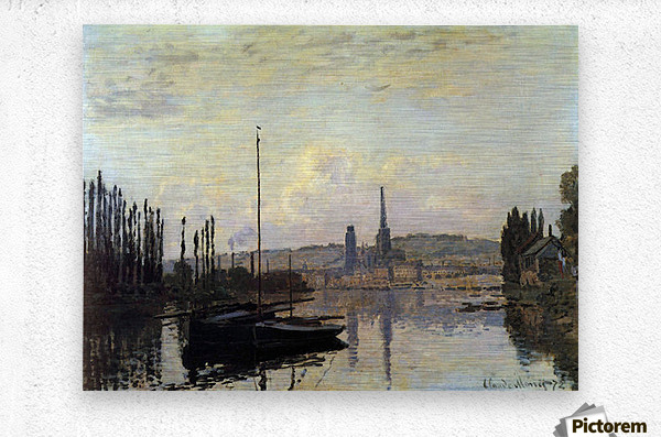 View of Rouen by Monet  Metal print