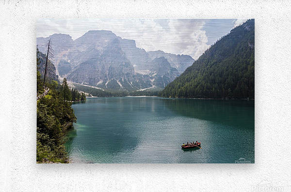 Lake of Braies  Metal print