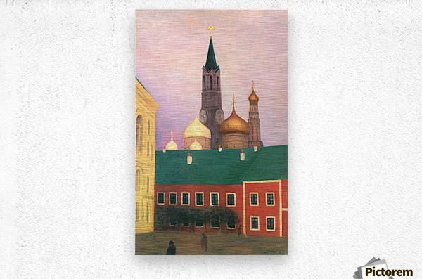 View of the Kremlin in Moscow by Felix Vallotton  Metal print