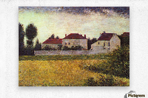 Ville dAvray, The white houses by Seurat  Metal print