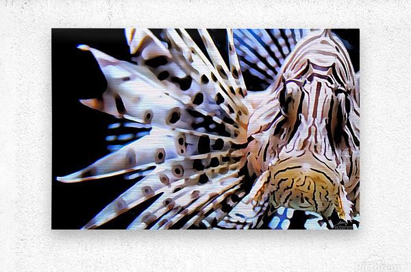 Lion Fish  Metal print