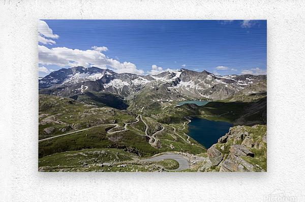 Landscape of Gran Paradiso  Metal print