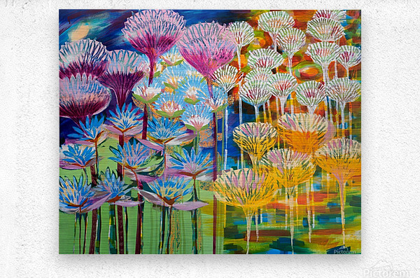 Levity Blooms  Metal print