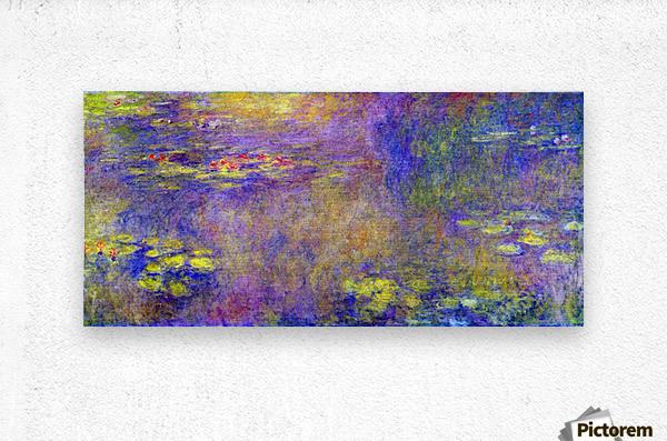 Water Lilies - (Yellow nirvana) by Monet  Metal print