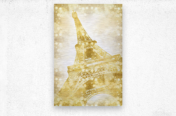 EIFFEL TOWER | golden illusion  Metal print