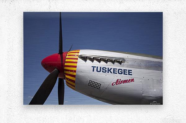 P-51 Redtail Nose  Metal print