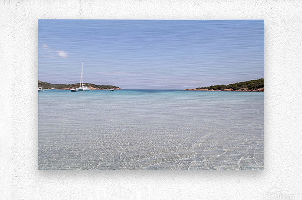 Rondinara beach in Corse  Metal print