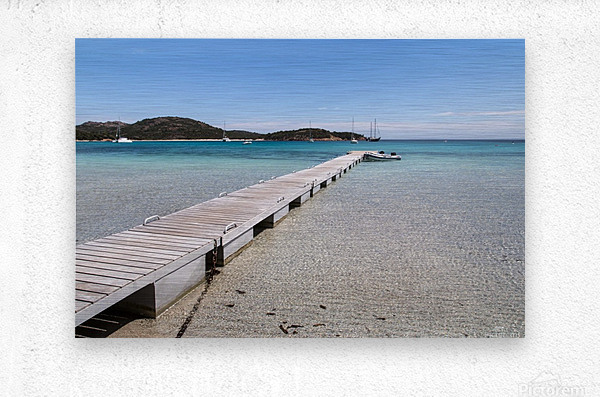 Rondinara beach in Corse  Metal print