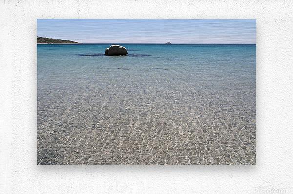 Pinarellu beach in Corse  Metal print